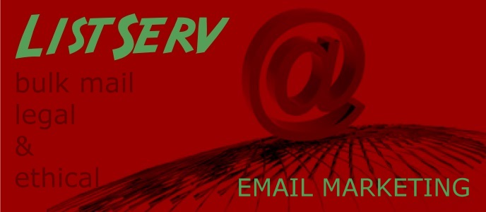 ListServ mailing list for bulk mail